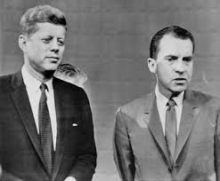 "「1960  Kennedy and Nixon square off in a televised presidential debate""」の画像検索結果"