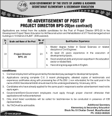 project director bps job muzaffarabad elementary secondary project director bps 20 job muzaffarabad elementary secondary education department job