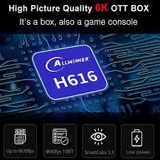 <b>H96 MAX</b> Allwinner <b>H616 Android</b> 10 6K Smart TV Kotak 5G Wifi 4K ...