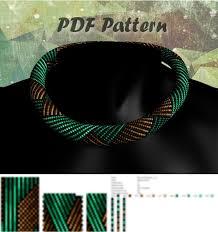beading patterns, Bead crochet pattern, <b>seed bead necklace</b> pattern ...