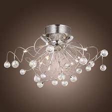 Modern Lights For Bedroom Modern Crystal Chandelier With 11 Lights Chrom Flush Mount