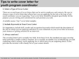 youth program coordinator cover letter  3 tips to write cover letter for youth program coordinator