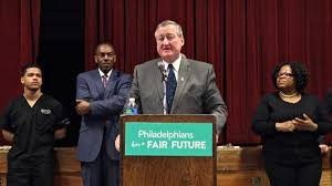 philly soda tax newsworks philadelphia or jim kenney speaks at a rally held by philadelphians for a fair future