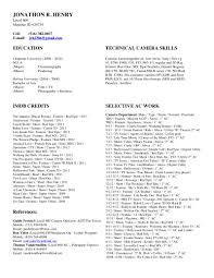 casting assistant resume camera cover letter gallery of cameraman resume sample