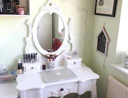 makeup vanity table dressing with trifold mirror charming makeup table mirror