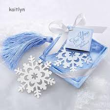 Kaitlyn~Creative Alloy Snowflake Shape Bookmark with Ribbon Box ...