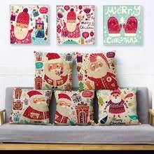 <b>Чехол</b> на рождественскую <b>подушку с</b> мультяшным Санта ...
