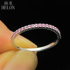 2019 <b>HELON Solid 10K</b> White <b>Gold</b> Stackable Pave Brilliant 100 ...