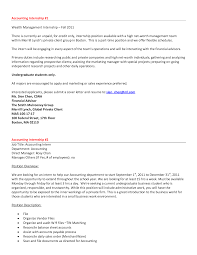 Cover Accounting Resume Cover Letter