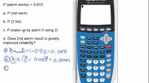 probability redundant systems quiz p ti calculator stats probability redundant systems quiz 2 p 7 ti 84 calculator stats