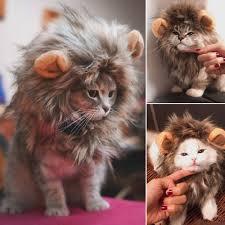 Funny Cute <b>Pet Cat</b> Costume Lion <b>Mane</b> Wig Cap Hat for <b>Cat Dog</b> ...