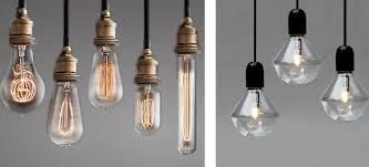 exposed bare light bulbs as industrial light fixtures have been trendy recently to successfully achieve the look make sure to hang more than one light bulb bare bulb lighting