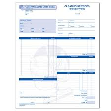 cleaning and janitorial invoice forms designsnprint janitorial service cleaning invoice printing