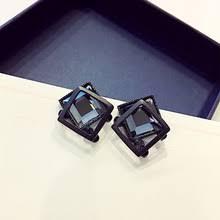 <b>New</b> Design <b>Hot Sale Fashion</b> Jewelry Simple Black Crystal Metal ...