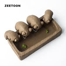 Boutique Yixing Tea Pet <b>Purple Sand</b> Pottery Fun 4 Pig Tea Pet ...