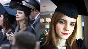 emma watson is graduating from college