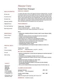 Retail store manager resume  job description  sample  example  template  marketing  stock  sales