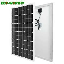 ECOworthy Monocrystalline <b>100W Solar Panel 18V</b> Battery Charger ...