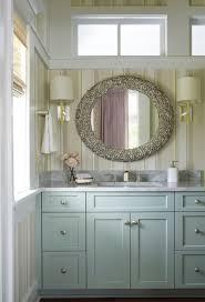coastal bathroom designs: coastal bathroom design blue vanity in sw quietude paint