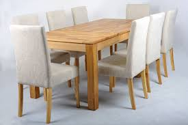 extending dining table fabric chairs