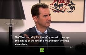 Afbeeldingsresultaat voor Assad about terrorism and refugees