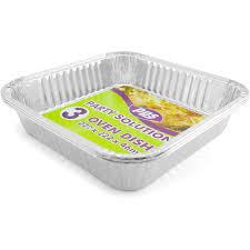 Foil Oven Dishes Square 222x222x46mm <b>3pcs</b> /24