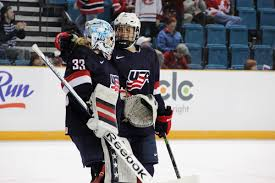 photo essay  meg linehan  live from usa russia  world hockey    megan bozek is first back to congratulate risgby on the shutout