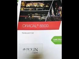 <b>ORACAL 8500</b> Translucent Folyo - YouTube