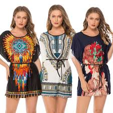 <b>Fashion Women Summer Bohemian</b> Dresses Luxury Casual Printed ...