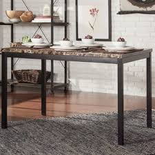 7ft dining table: inspire q living darcy faux marble black dining table