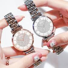 <b>Hot</b> Sale Women Stainless Steel Full Diamond <b>Wrist Watches</b> ...