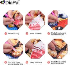 <b>DIAPAI Diamond Painting 5D</b> DIY 100% Full Square/Round Drill ...