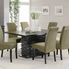 dining room chairs chair upholstery ideas tall dining tables and green leather chairs with bamboo decorating and