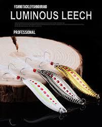 WALK FISH 1PCS <b>Metal VIB</b> 5/7/10/15/20g Luminous <b>Leech</b> Spoon ...