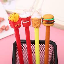 <b>1pcs</b> Creative <b>French fries</b> cola burger ice cream gel pen cute office ...