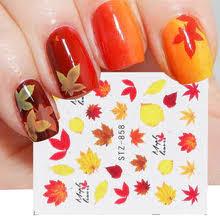 1 шт. осенние <b>наклейки для ногтей</b> Марпл лист желтый ...