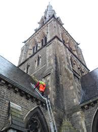roof repair place: church roof repair at st giles church camberwell london