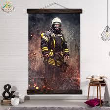 Hero <b>Fireman Photo</b> Single Modern Wall Art Print Pop Art <b>Picture</b> ...