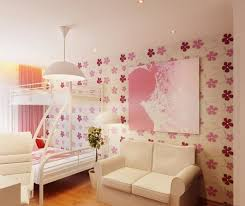 room elegant wallpaper bedroom: bedroom decorating girls bedroom with elegant wallpaper with flowers motif and add with wall framed