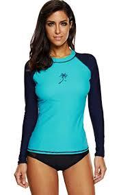 ATTRACO Women's Long-Sleeve Rashguard UPF 50 ... - Amazon.com