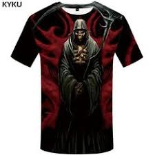 <b>KYKU Brand Skull T</b> shirt Blood Clothes Funny Clothing Hip-Hop ...