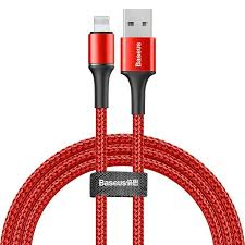 Lightning кабель <b>Baseus halo</b> data cable <b>USB</b> 2.4A 1m красный ...