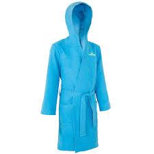 <b>Халат</b> из <b>микрофибры</b> с капюшоном, карманами и поясом детский