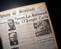 「1961 Hurricane Carla」の画像検索結果