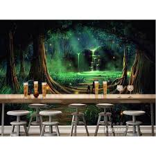 abstract forest green wall art painting marble agate canvas posters minimalist prints modern decoration for living room