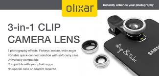 Olixar 3-in-1 Universal Clip Camera Lens Kit :: MobileZap Australia