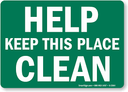 Image result for clean signs