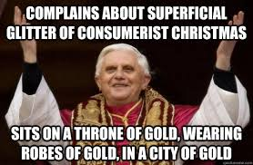 complains about superficial glitter of consumerist christmas Sits ... via Relatably.com