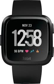 <b>Fitbit Versa Smartwatch</b> Black/Black FB504GMBK - Best Buy