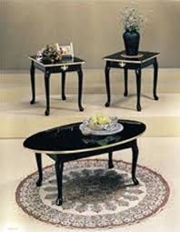 <b>3pcs</b> Queen Anne Style Black & Gold Finish <b>Coffee Table</b> Set Find ...
